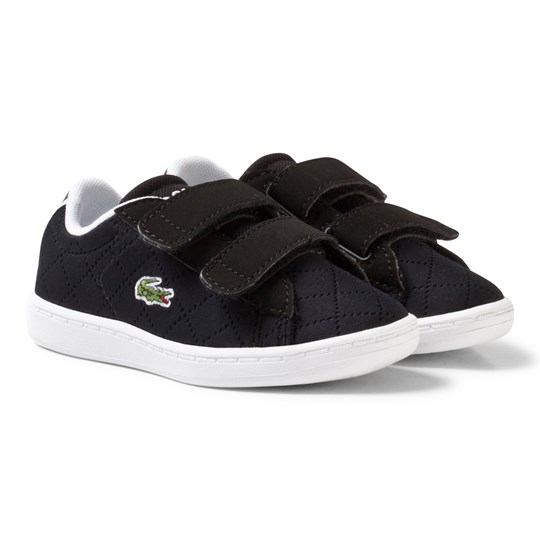 Lacoste Carnaby Perforated Evo 317 3 Trainers Black Dark brown