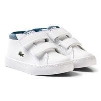 Lacoste White and Blue Chukka 317 1 Trainers White & Blue