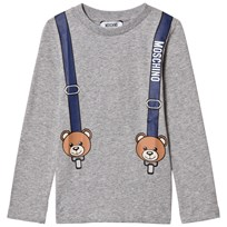 Moschino Kid-Teen Grey Bear Braces Print Tröja 60901