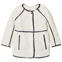 Chloé Grey Marl Coat with Faux Fur Lining 127