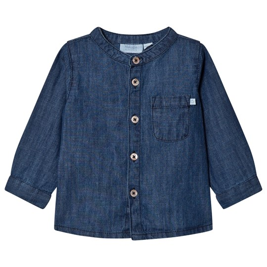 Noa Noa Miniature Blouse,long Sleeve Denim Dark Blue DENIM DARK BLUE