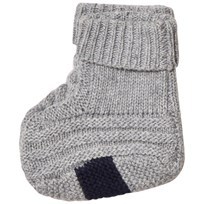 Noa Noa Miniature Basic Wool Knit Booties Grey Grey Melange