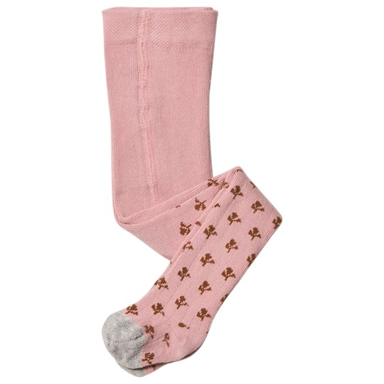 Noa Noa Miniature Flower Baby Tights Silver Pink Silver Pink