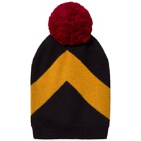 Wolf & Rita Beanie Jorge Black Yellow Black