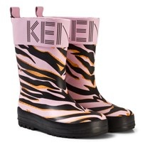 Kenzo Pink Animal Print Wellies 32
