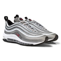 NIKE Silver Nike Air Max 97 Ultra 17 Junior Shoe METALLIC SILVER/VARSITY RED-BLACK-WHITE
