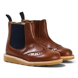 Image of Young Soles Chestnut Leather Francis Boots 28 (UK 10) (3058850325)