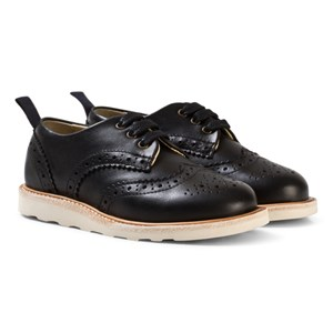 Image of Young Soles Brando Black Leather Brogues (1802679)