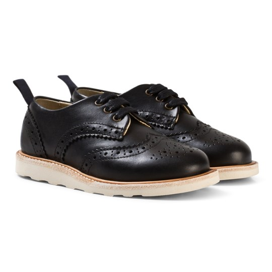 Young Soles Brando Black Leather Brogues Black Leather