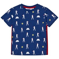 Fabric Flavours Blue Stormtrooper Repeat Print Tee Blue