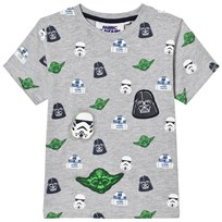 Fabric Flavours Grey Star Wars Multi Character T-Shirt Black