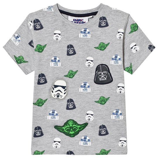 Fabric Flavours Grey Star Wars Multi Character Tee Black