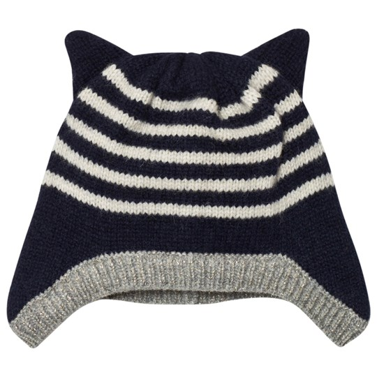 Emile et Ida Striped Hat with Ears Marine Marine