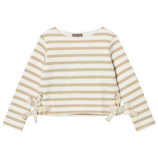 Emile et Ida Striped Sweater Ecru/Gold Ecru/Or