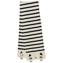 Emile et Ida Striped Cat Scarf Ecru Ecru
