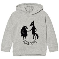 Emile et Ida Hoodie peace&love Gris chine Gris Chine (Loup)