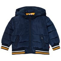 Levis Kids Navy Padded Puffer Coat with Detachable Hood 48