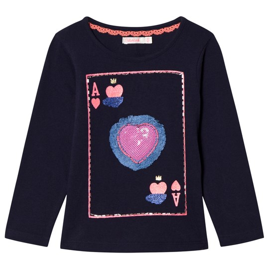 Billieblush Navy Playing Card Sequin Tee 849