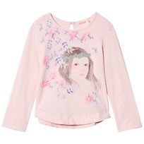 Billieblush Pale Pink Floral Girl Print Tee 46F
