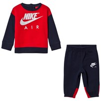 NIKE Navy and Red Nike Air Crew Fleece Set 695