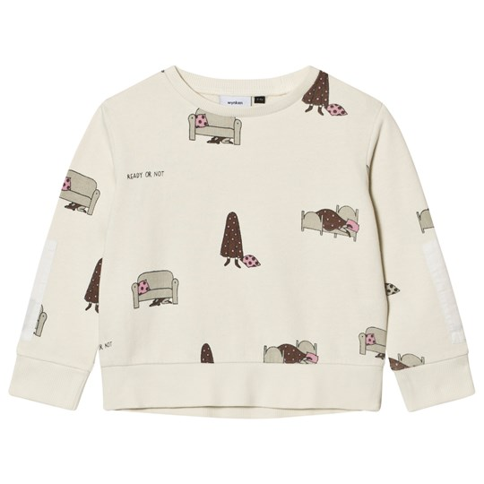 Wynken Cream Hide and Seek Print Sweatshirt Chalk