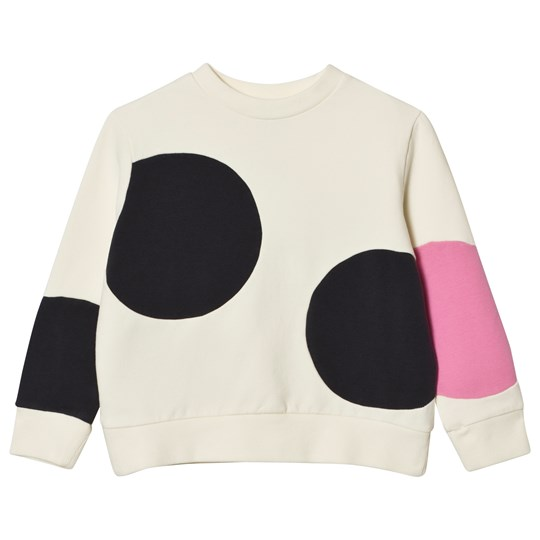 Wynken Cream and Pink Spot Sweatshirt Chalk