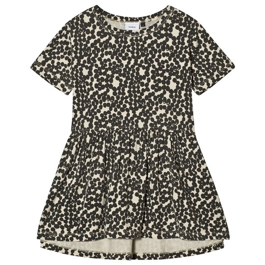 Wynken Spotted Gather Dress Charcoal Charcoal