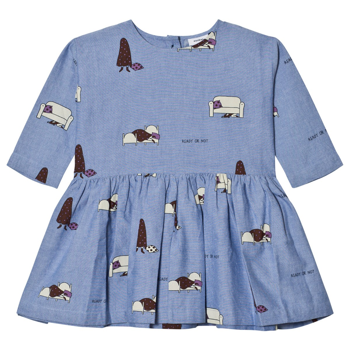Wynken - Chambray Hide and Seek Gather Dress - Babyshop com