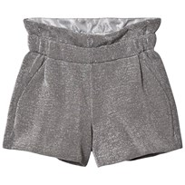 Fendi Lurex Metallic Shorts Silver F0QW0