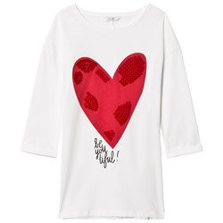 Guess White Heart Print and Sequin Tunic