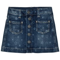 Pepe Jeans Star Print Button Skirt Medium 000