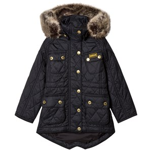 Bilde av Barbour Black Enduro Long Line International Quilt Parka L (10-11 Years)
