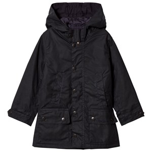 Image of Barbour Navy Waxed Trail Hooded Jacket with Fleece Lining XL (12-13 years) (3008599261)