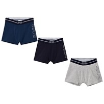BOSS 3 Pack of Blue, Navy and Grey Branded Boxers 804
