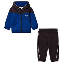 BOSS Royal Blue and Black Branded Tracksuit 865