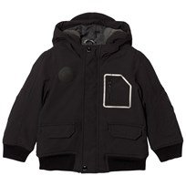 BOSS Black Fleece Lined Hooded Parka