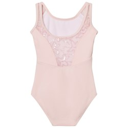 Mirella Pink Sequin Butterfly Tulle Back Tank