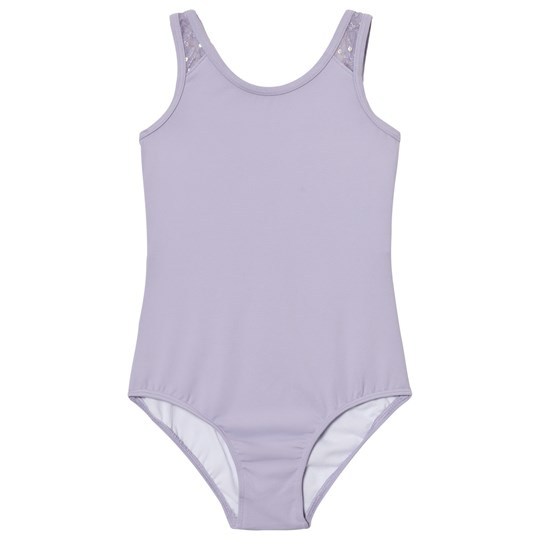Mirella Lilac Sequin Butterfly Tulle Back Tank LLC
