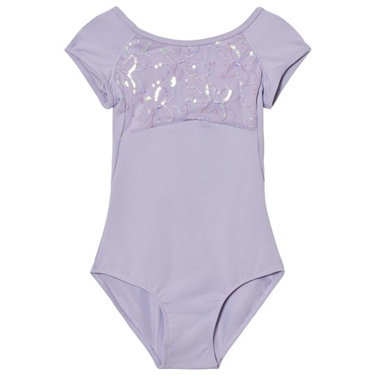 Mirella Lilac Sequin Butterfly Tulle Bust Strap Back Leotard LLC
