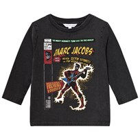Little Marc Jacobs Black Washed Comic Tee 09B