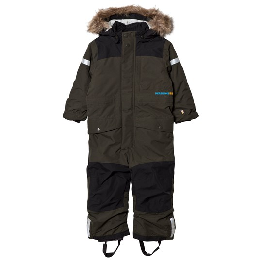 Didriksons Björnen Kids Coverall Stone Green Stone gree