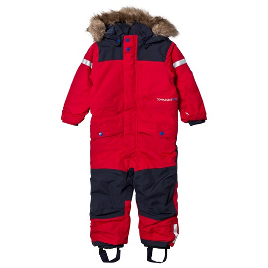 Didriksons Björnen Kid´s Coverall Red Red