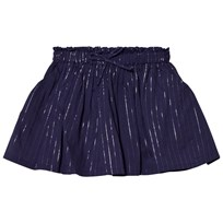 Emile et Ida Skirt with Glitter Stripes Marine Marine
