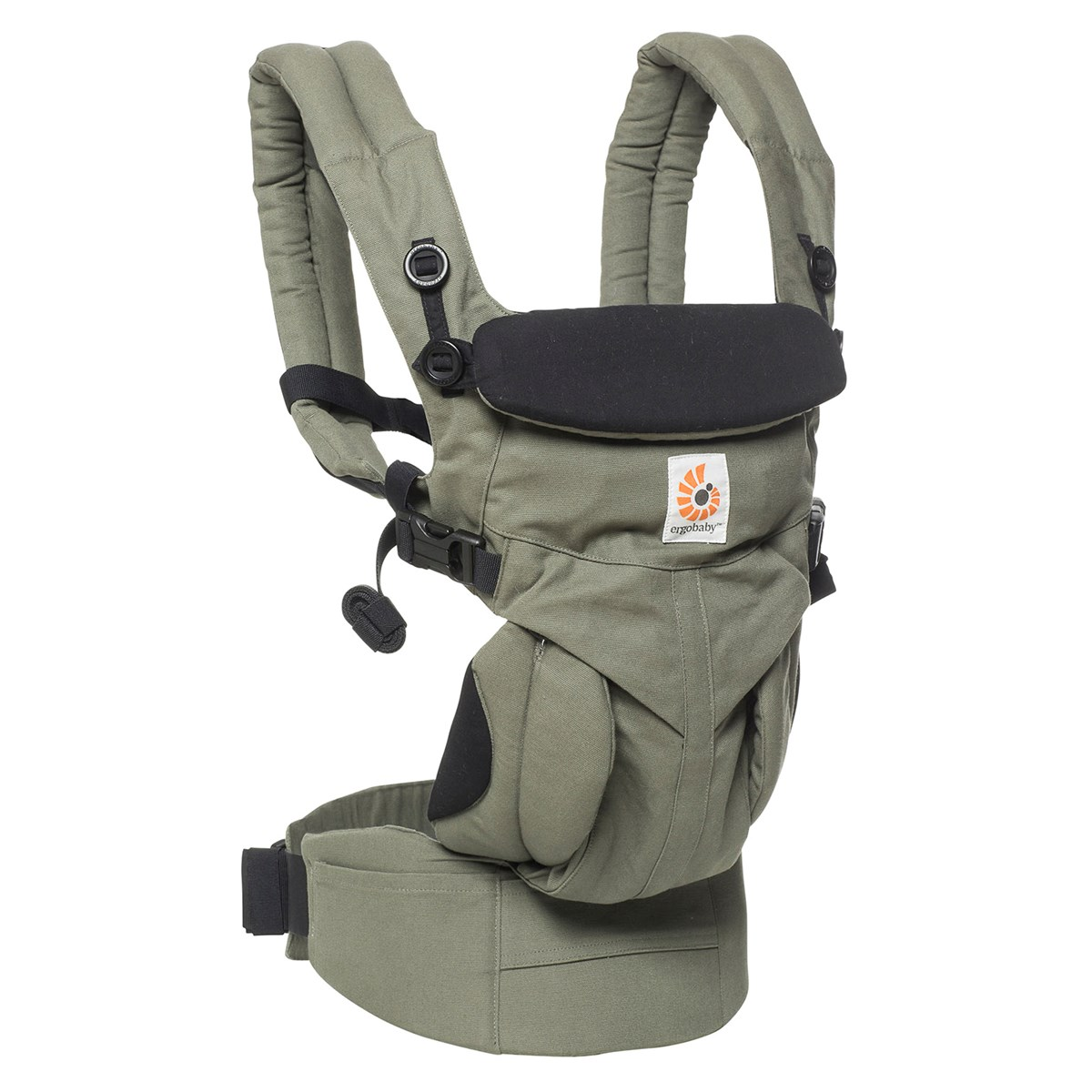 4-Position Omni 360 Khaki Green ERGObaby Baby Carrier Newborn to Toddler Front Back Child Carrier