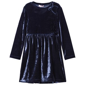 Image of Il Gufo Navy Velvet Party Dress 2 years (2743770143)