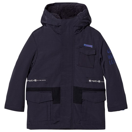 IKKS Navy 2-in-1 Hooded Parka/Bomber Jacket 48