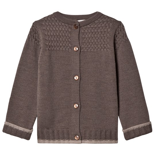 Lillelam Basic Cardigan Brown Brun