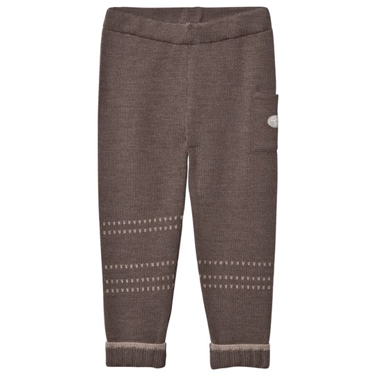 Lillelam Basic Wool Pants Brown Ruskea