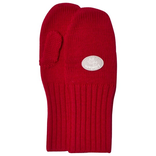 Lillelam Basic Wool Mittens Red Rød