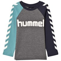 Hummel Lukas Long Sleeve Tee Dusty Turquoise DUSTY TURQUISE